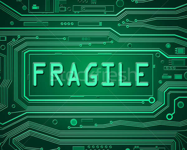 Fragile technologie résumé style illustration Photo stock © 72soul
