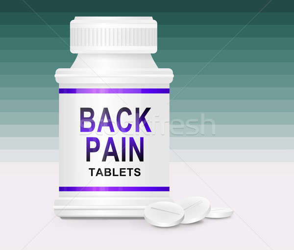 Back pain medication. Stock photo © 72soul