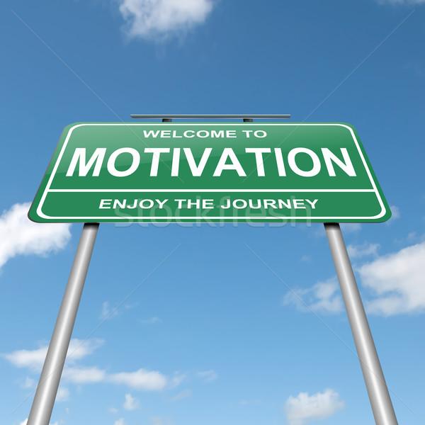 Motivatie illustratie groene blauwe hemel business Stockfoto © 72soul