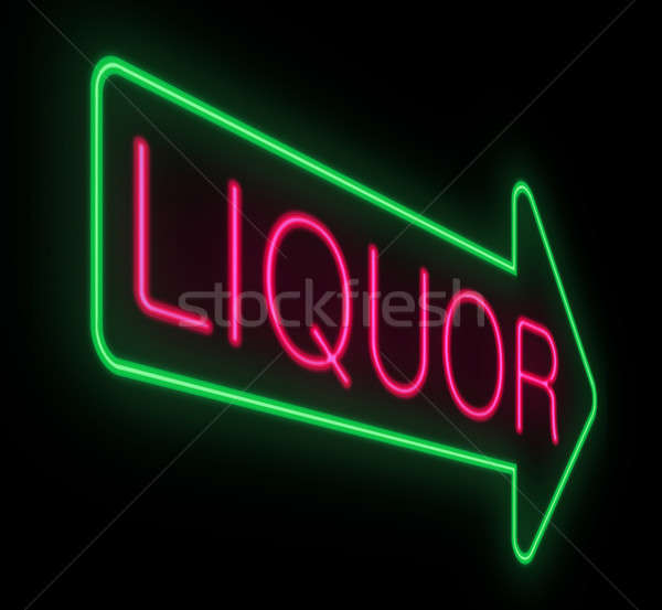 Liquor neon sign. Stock photo © 72soul