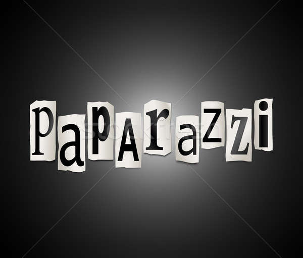 Paparazzi illustration lettres forme mot Photo stock © 72soul