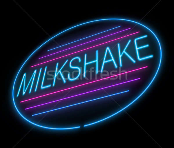 Milkshake sign. Stock photo © 72soul