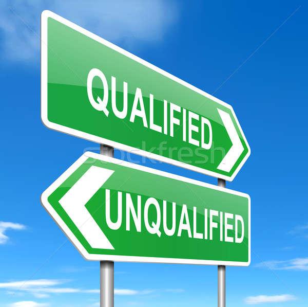 подходящий иллюстрация знак квалификация фон профессиональных Сток-фото © 72soul