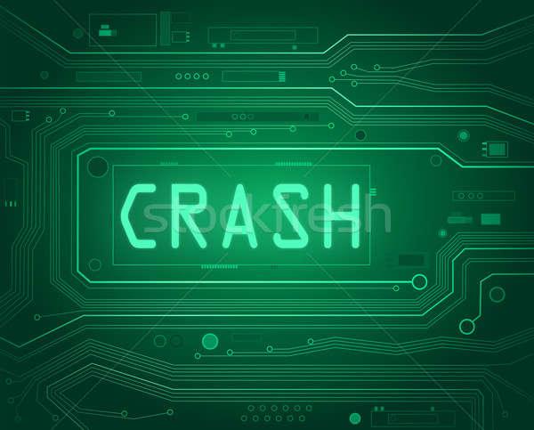 Crash streszczenie stylu ilustracja składniki Zdjęcia stock © 72soul