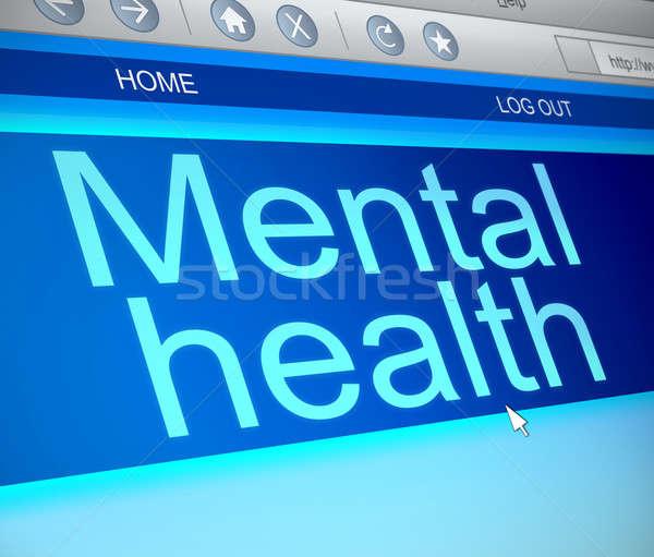психическое здоровье иллюстрация экране компьютера захват технологий здоровья Сток-фото © 72soul