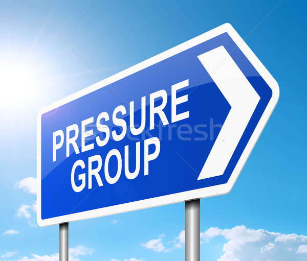 Pressure group concept. Stock photo © 72soul