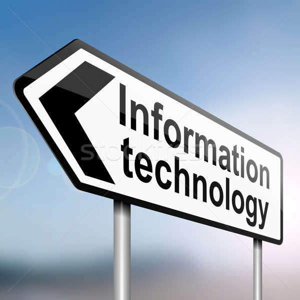 Bilgi teknolojisi örnek imzalamak gönderemezsiniz ok bulanık Stok fotoğraf © 72soul