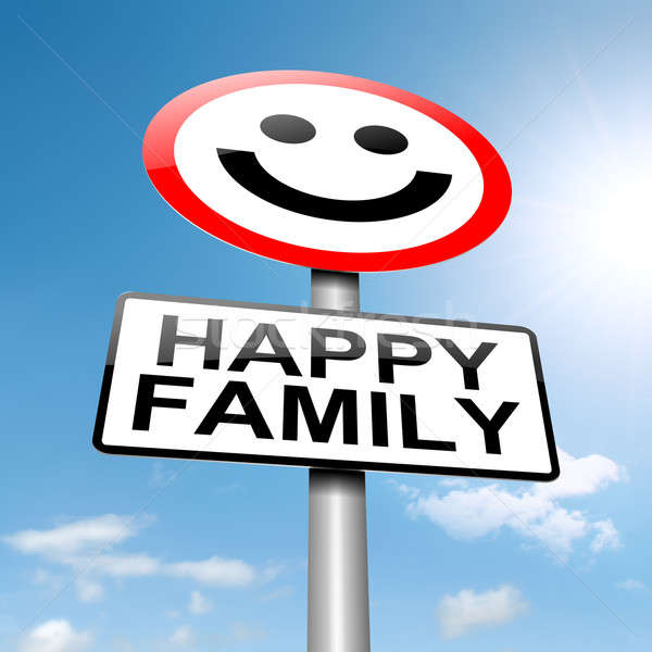 Happy family concept sign. Stock photo © 72soul