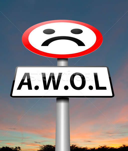 AWOL concept. Stock photo © 72soul