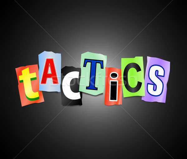 Foto stock: Táctica · ilustración · cartas · forma · palabra