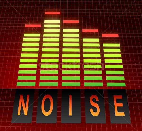 Zaj illusztráció grafikus hangszínszabályozó zene technológia Stock fotó © 72soul