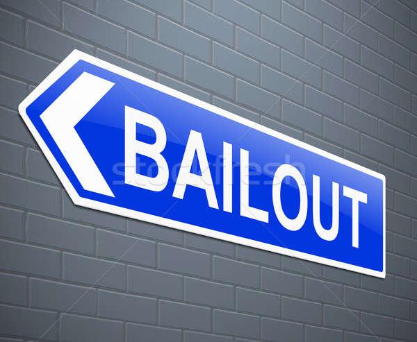 Ilustración signo negocios azul industria ayudar Foto stock © 72soul