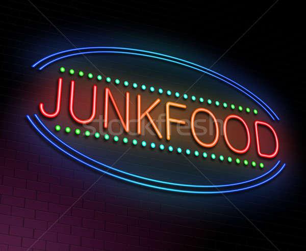 Ilustracja neon restauracji bar Zdjęcia stock © 72soul