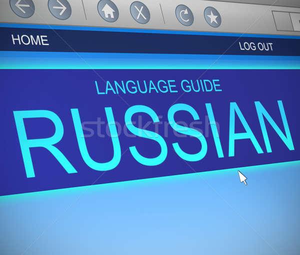 Russo lingua illustrazione schermo del computer catturare scuola Foto d'archivio © 72soul