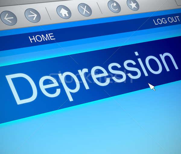 Depresyon örnek bilgisayar ekranı ele geçirmek teknoloji ekran Stok fotoğraf © 72soul