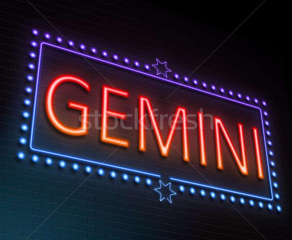 Gemini sign concept. Stock photo © 72soul