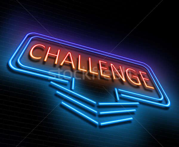 挑戦 にログイン 実例 青 ストックフォト © 72soul