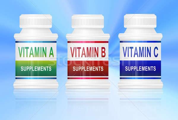 Vitamine illustratie drie Stockfoto © 72soul