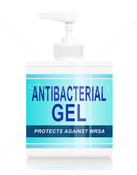 Antibacterial gel dispenser. Stock photo © 72soul
