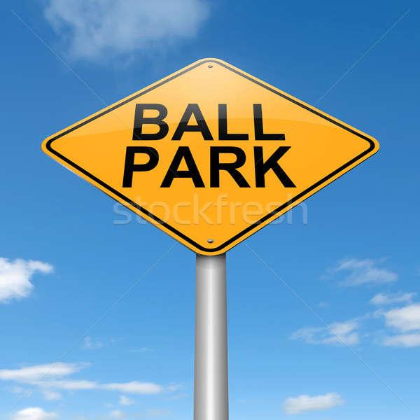 Bal park illustratie hemel achtergrond Stockfoto © 72soul