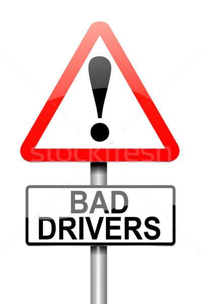 Ruim motorista alertar ilustração assinar estrada Foto stock © 72soul