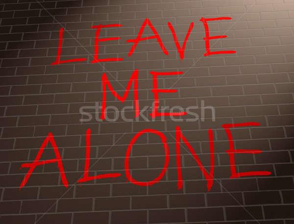 мне только иллюстрация граффити стены Сток-фото © 72soul