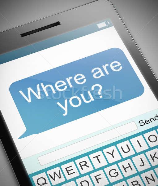 örnek telefon kayıp kişi teknoloji hareketli Stok fotoğraf © 72soul