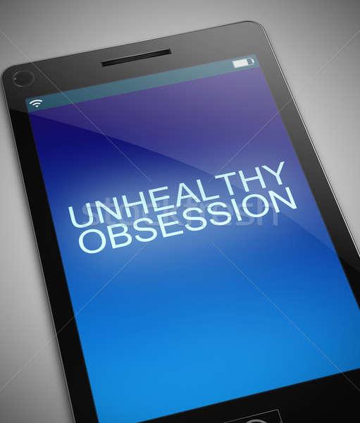 Ongezond obsessie illustratie telefoon mobiele mobiele telefoon Stockfoto © 72soul