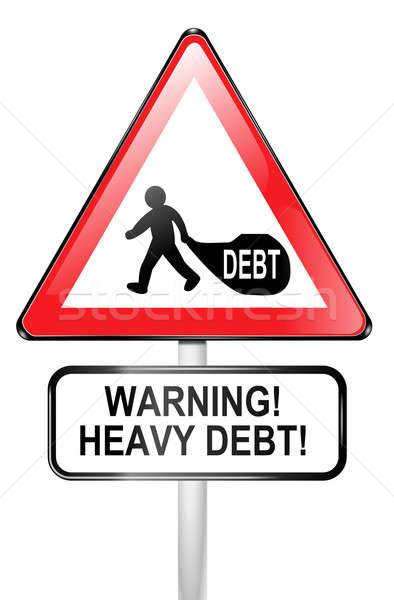Debt warning. Stock photo © 72soul