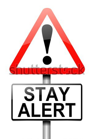 психическое здоровье предупреждение иллюстрация красный белый Сток-фото © 72soul