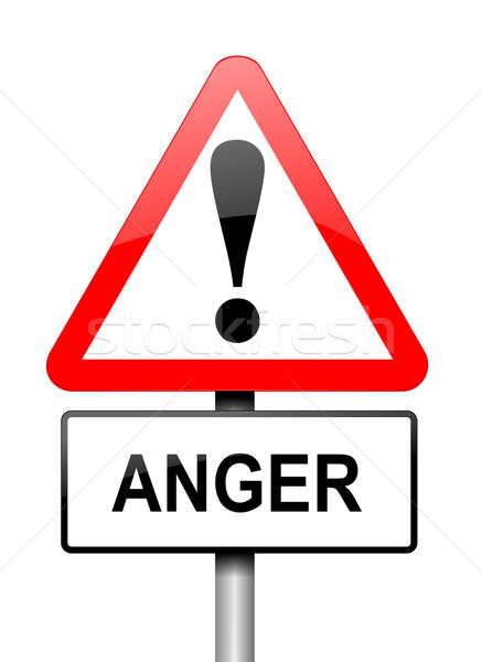 Woede waarschuwing illustratie Rood witte Stockfoto © 72soul