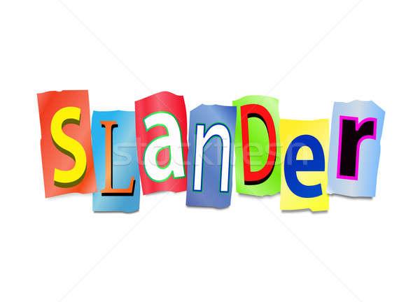 Ilustração impresso cartas forma palavra Foto stock © 72soul