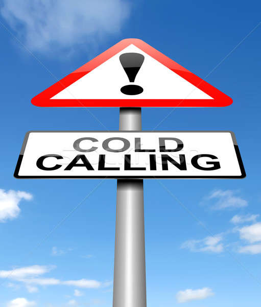 Cold calling warning. Stock photo © 72soul