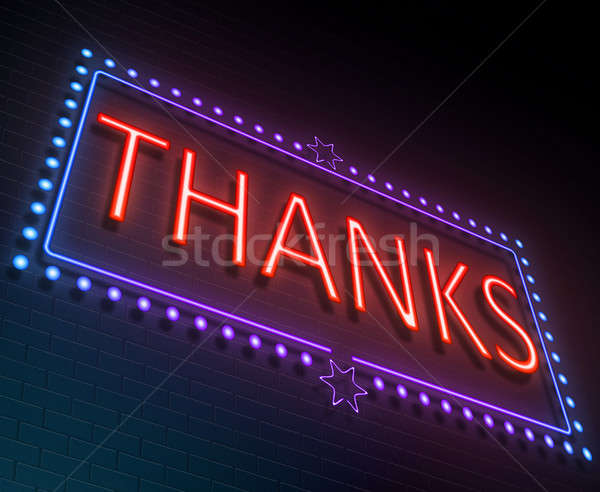 Thanks sign concept. Stock photo © 72soul