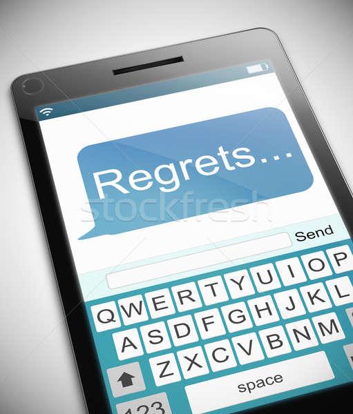 Regrets message concept. Stock photo © 72soul