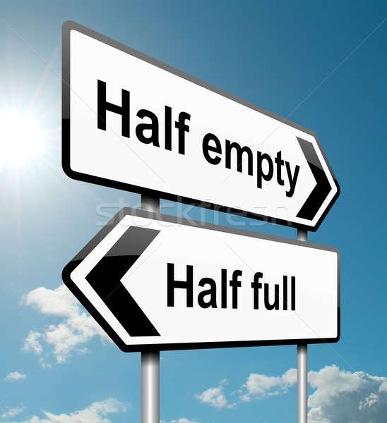 Half empty or half full. Stock photo © 72soul