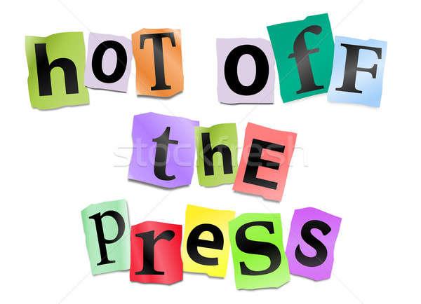 Chaud presse illustration imprimé Photo stock © 72soul
