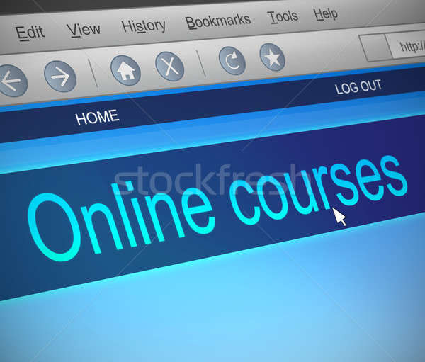 Online courses concept. Stock photo © 72soul