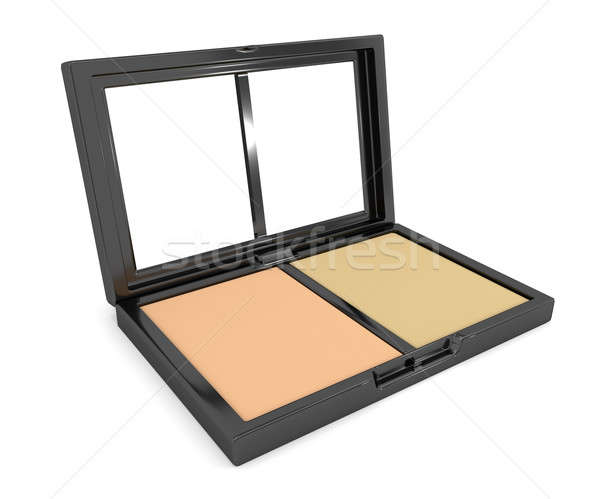 Pressed powder compact. Stock photo © 72soul