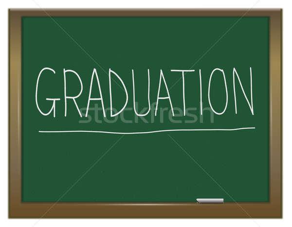 érettségi illusztráció zöld tábla írott diák Stock fotó © 72soul