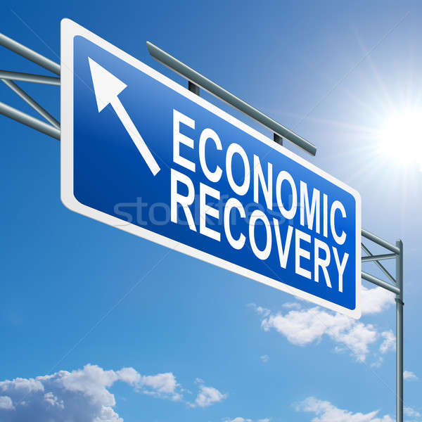 Economic recovery sign. Stock photo © 72soul