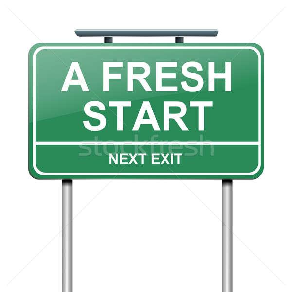 A fresh start. Stock photo © 72soul