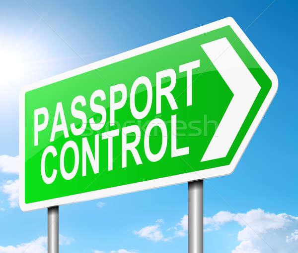 Passport control sign. Stock photo © 72soul