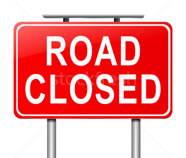 Road closed sign. Stock photo © 72soul