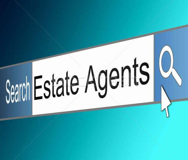 агент по продаже недвижимости иллюстрация экране выстрел интернет поиск Сток-фото © 72soul