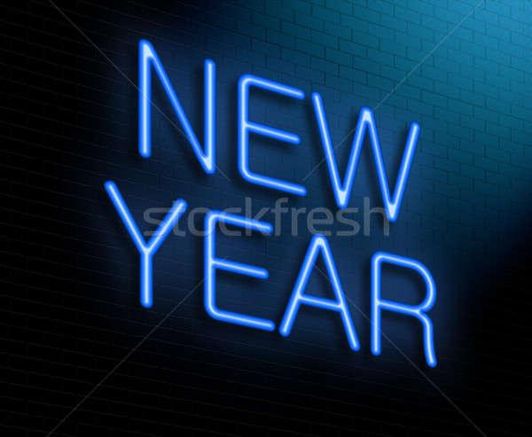 Ano novo ilustração novo luzes Foto stock © 72soul