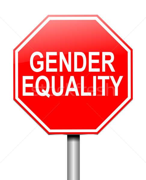 Płeć równość ilustracja podpisania czerwony graficzne Zdjęcia stock © 72soul