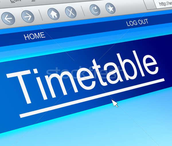 Horário ilustração tela do computador capturar tecnologia informação Foto stock © 72soul
