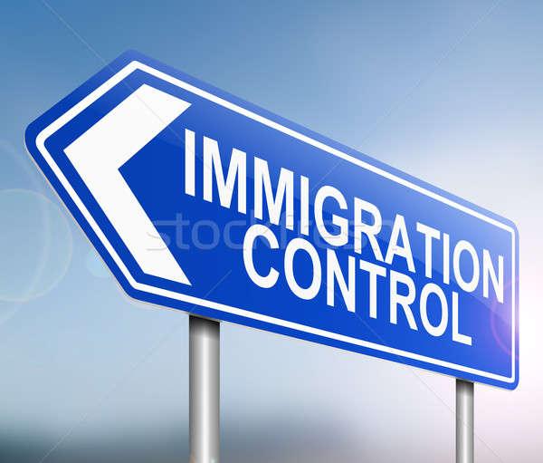 Immigration control concept. Stock photo © 72soul