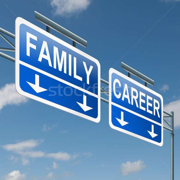 Family or career. Stock photo © 72soul